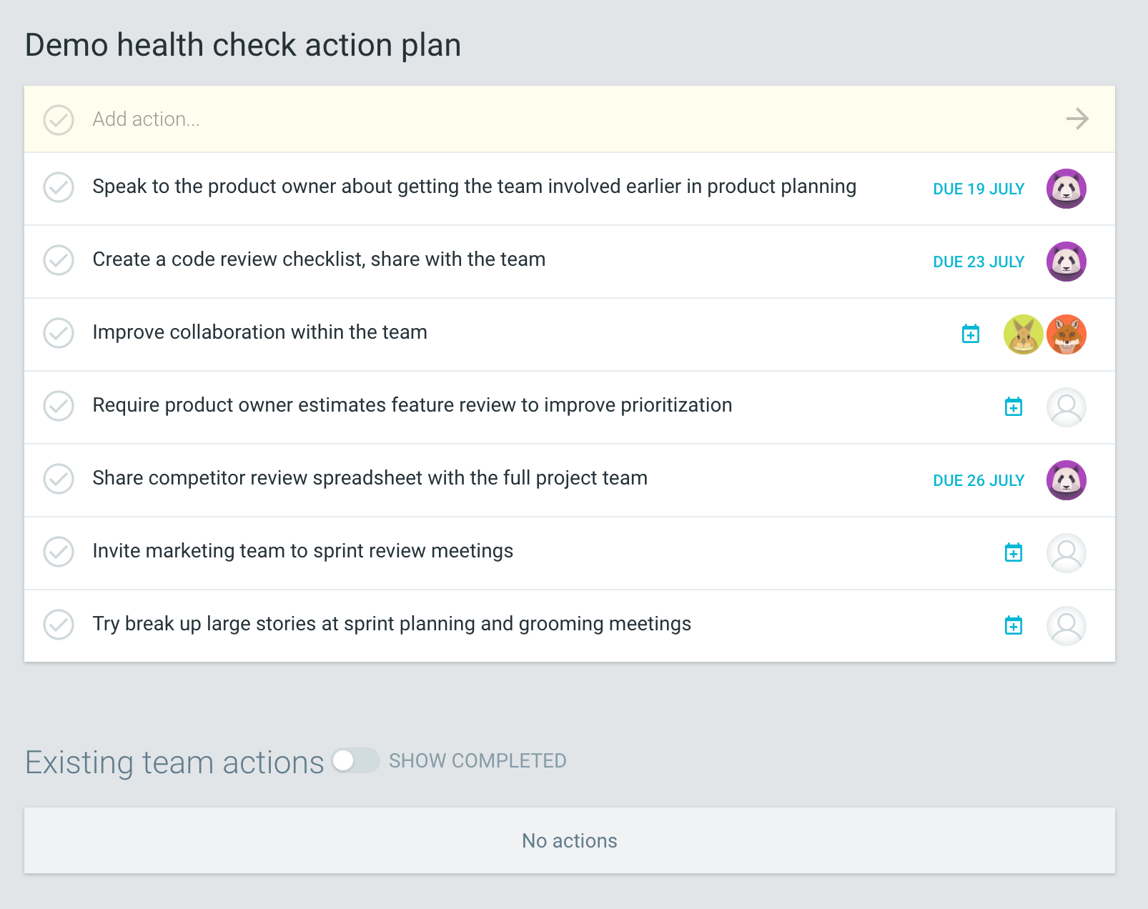 Health Check Review