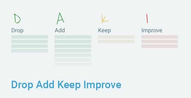 Drop Add Keep Improve